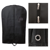 Black suit garment travel cover bag foldable with carry handle