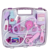 Childrens Kids Role Play Doctor Nurses Toy Set Medical Kit In Pink