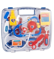 Childrens Kids Role Play Doctor Nurses Toy Set Medical Kit In Blue