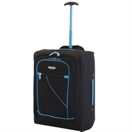 Travel Hand Luggage Suitcase Trolley Cabin Size Wheeled Bag 53*35*20cm
